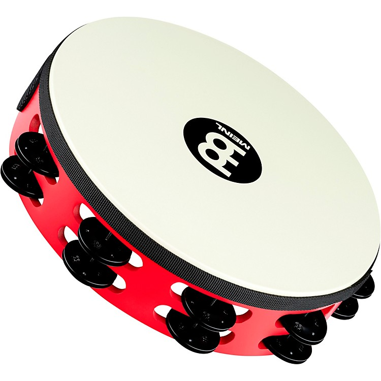 Meinl Touring Synthetic Head Wood Tambourine Two Rows Red