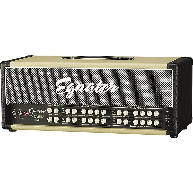 Egnater Tourmaster Series 4100 100W All-Tube Guitar Amp Head Black/Beige