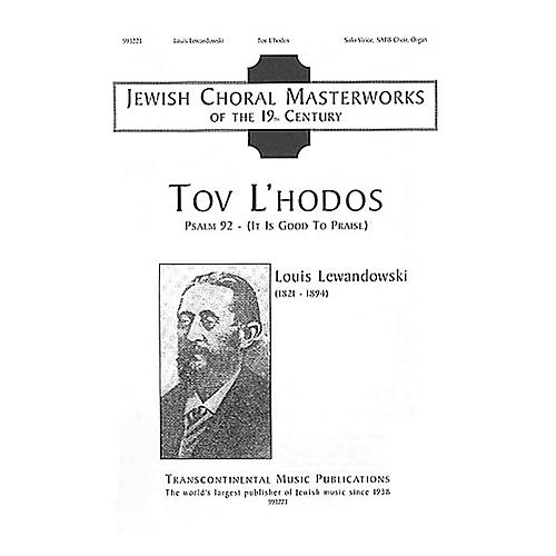 Transcontinental Music Tov L'hodos (It Is Good to Give Thanks) SATB composed by Louis Lewandowski-thumbnail