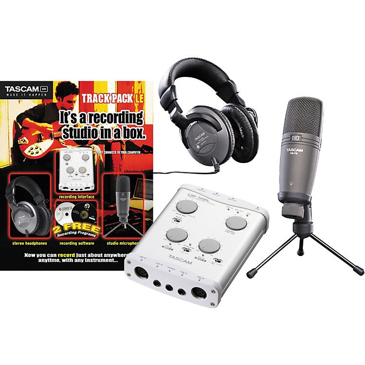 TASCAMTrack Pack LE Recording Package New Open Box