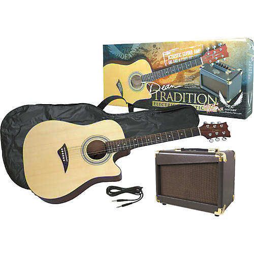 Dean Tradition Acoustic-Electric Guitar and Amp Pack