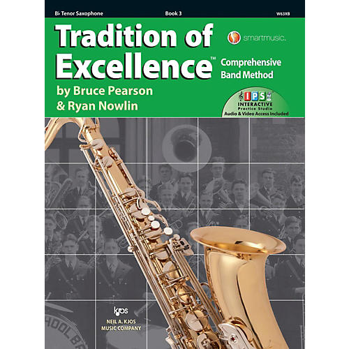 KJOS Tradition of Excellence Book 3 Tenor sax-thumbnail