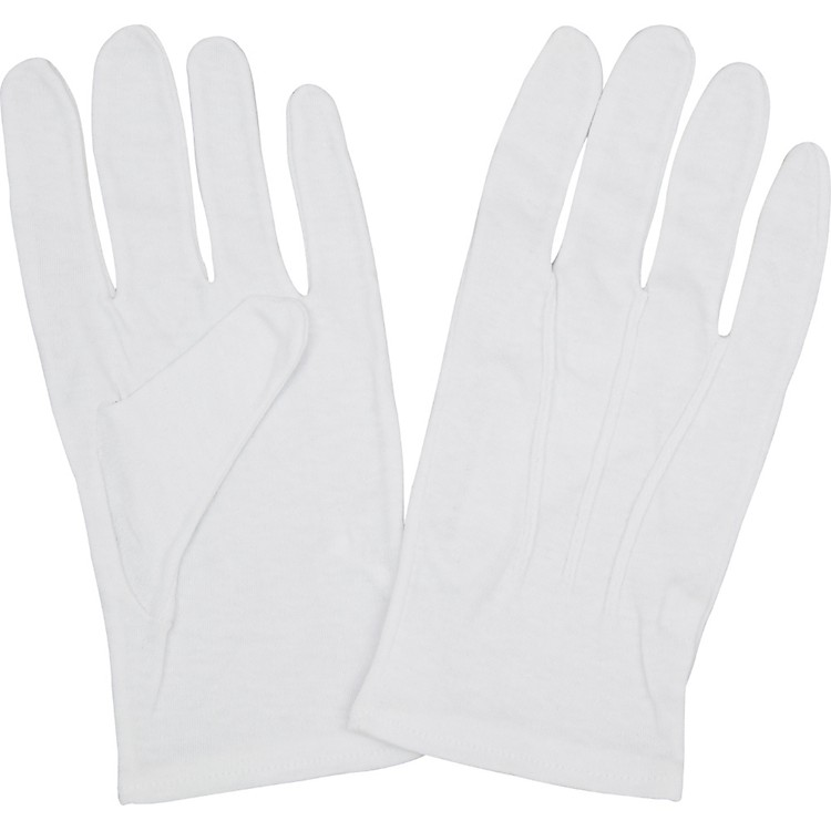 Director's Showcase Traditional Cotton Gloves Medium Black