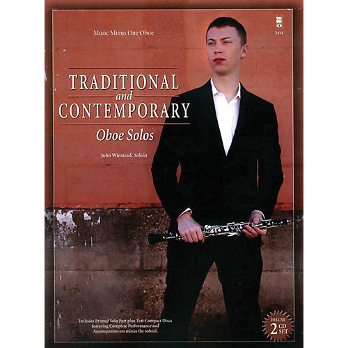 Music Minus One Traditional and Contemporary Oboe Solo Music Minus One Series BK/CD-thumbnail