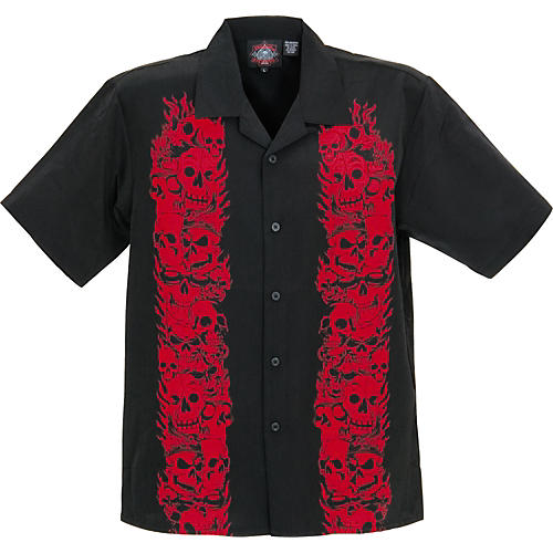 Dragonfly Clothing Company Trails Red Flames Woven Shirt-thumbnail