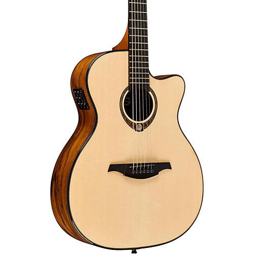 Lag Guitars Tramontane Limited Edition TSE-701ACE Snake Wood Auditorum Cutaway Acoustic-Electric Guitar Natural Snake Wood