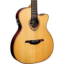 Lag Guitars Tramontane T100ASCE Slim-line Auditorium Cutaway Acoustic-Electric Guitar Natural