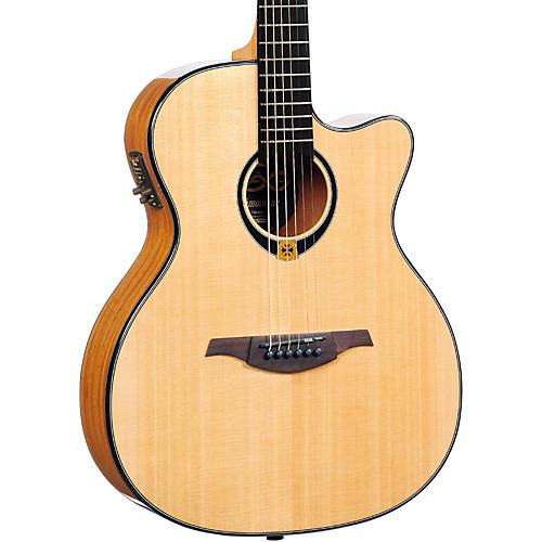 Lag Guitars Tramontane T80ACE Auditorium Cuataway Acoustic-Electric Guitar