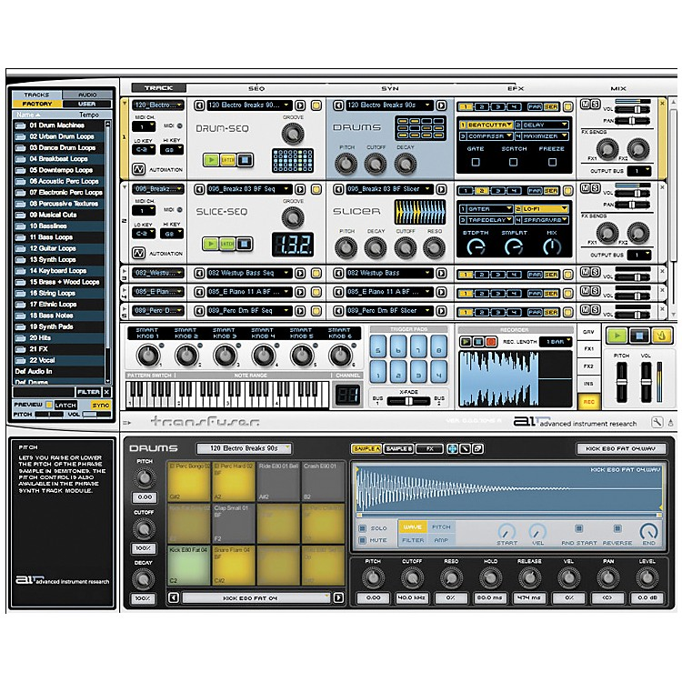 DigidesignTransfuser Virtual Instrument Software
