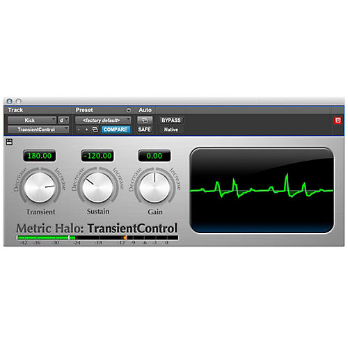 METRIC HALO TransientControl for Pro Tools AAX Software Download