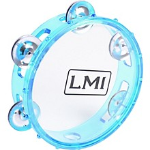LMI Transparent Tambourine with Head Blue 15CM