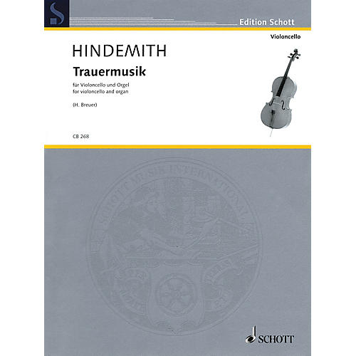 Schott Trauermusik (arranged for Cello and Organ) String Series Softcover