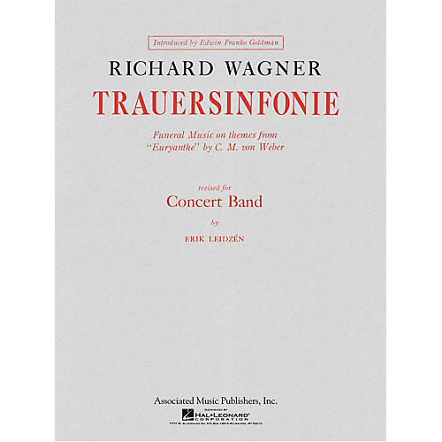 Associated Trauersinfonie (Score and Parts) Concert Band Level 4-5 Composed by Richard Wagner-thumbnail