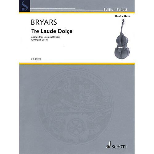 Schott Tre Laude Dolçe (for Solo Double Bass) String Series Softcover-thumbnail