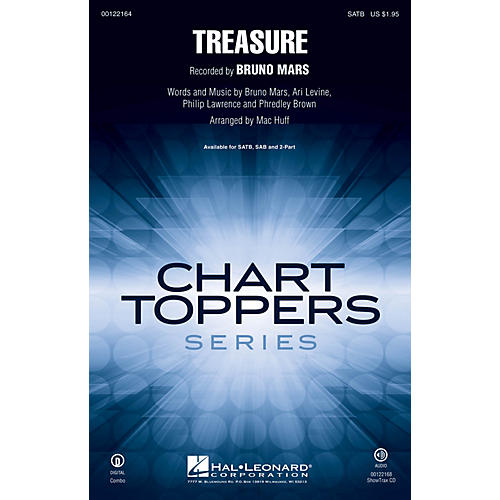 Hal Leonard Treasure SATB by Bruno Mars arranged by Mac Huff-thumbnail