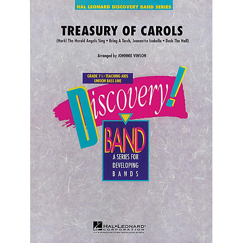 Hal Leonard Treasury of Carols Concert Band Level 1.5 Arranged by Johnnie Vinson-thumbnail