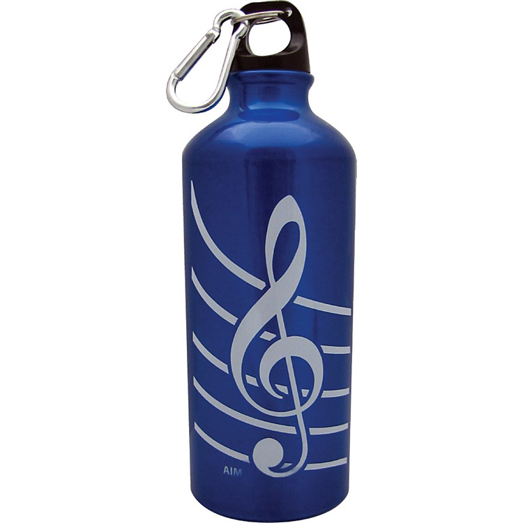 AIM Treble Clef Aluminum Bottle (Blue)