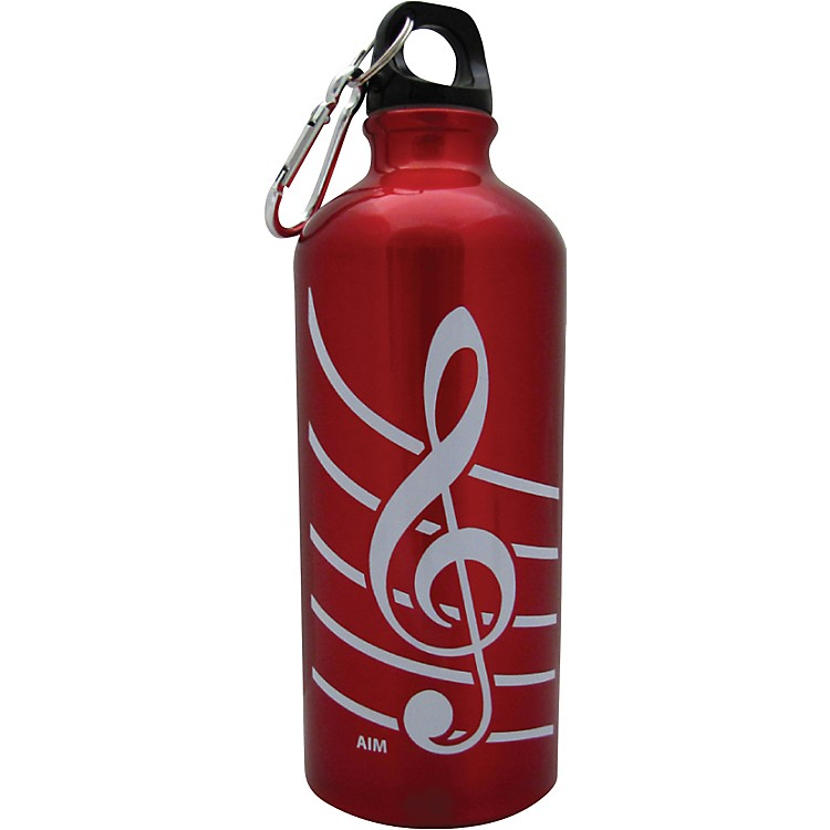 AIM Treble Clef Aluminum Bottle (Red)