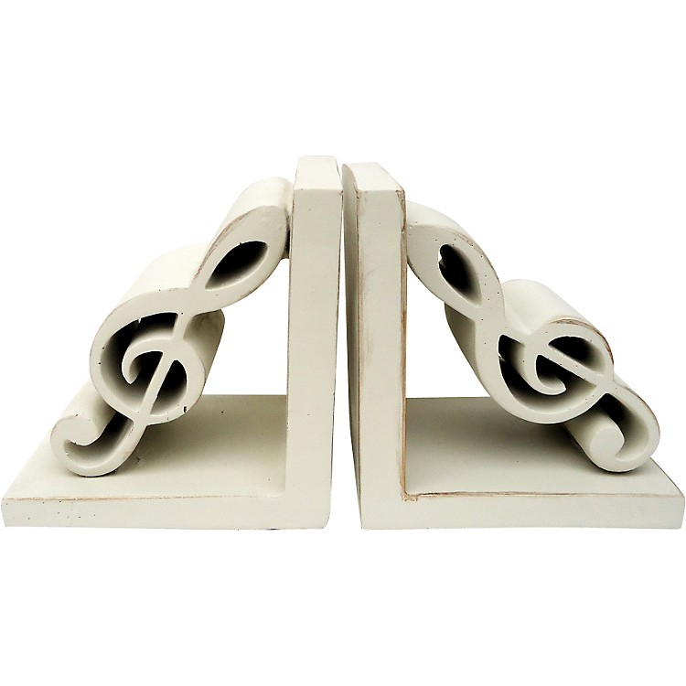 AIMTreble Clef Bookends (Antique White)