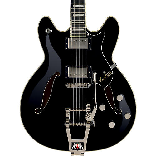 Hagstrom Tremar Viking Deluxe Electric Guitar Black Gloss