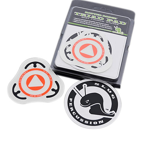 Slug Percussion Triad Pad Batter Badge Orange