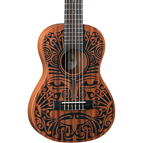 Luna Guitars Tribal 6-String Mahogany Ukulele-thumbnail