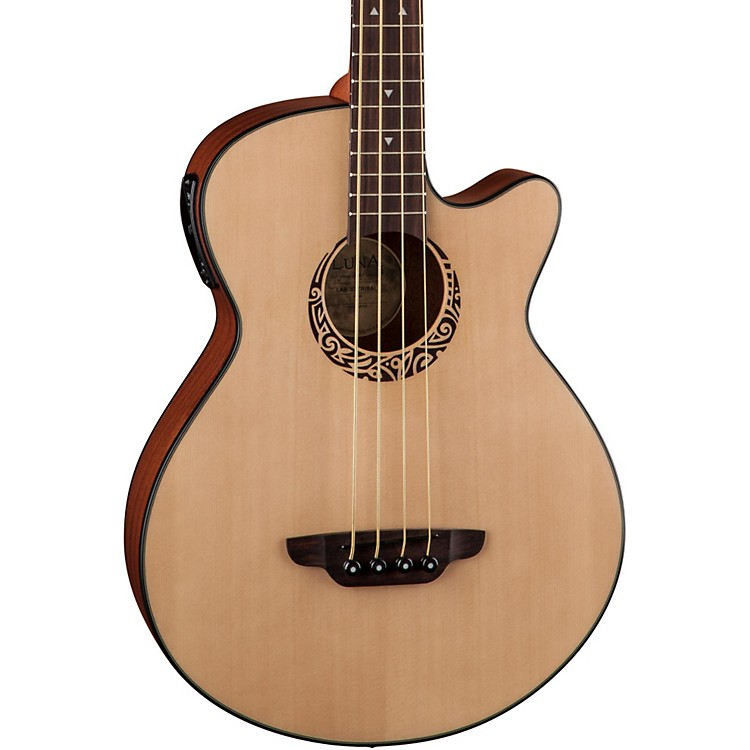 Luna GuitarsTribal Short Scale Acoustic-Electric Bass