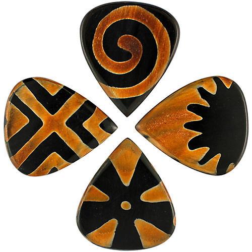 Timber Tones Tribal Tones Mixed Bag of 4 Guitar Picks-thumbnail