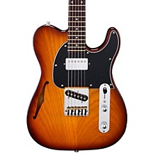 G&L Tribute ASAT Classic Bluesboy Semi-Hollow Electric Guitar Tobacco Sunburst Rosewood Fretboard