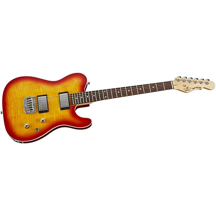 G&L Tribute ASAT Deluxe Carved Top Electric Guitar Cherry Sunburst Rosewood Fretboard