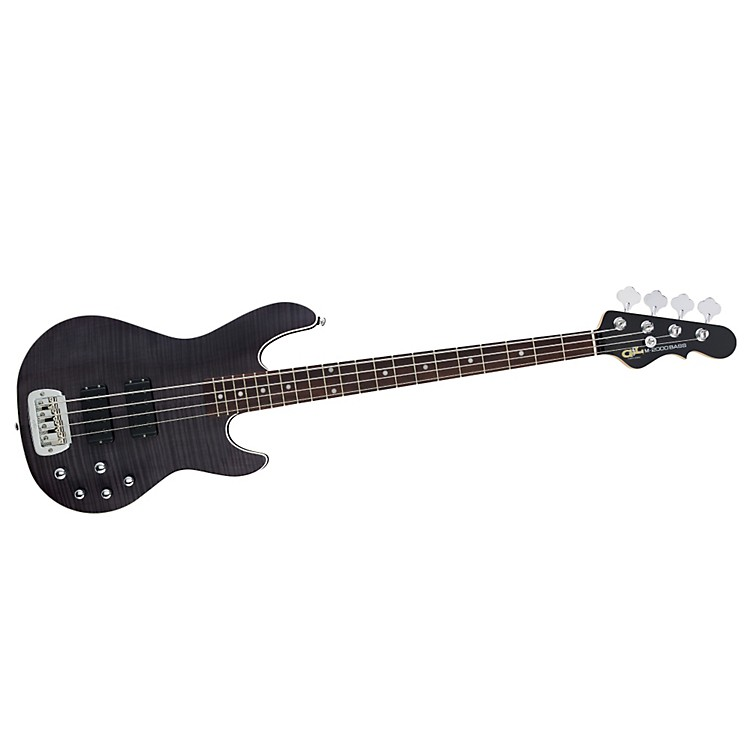 G&L Tribute M2000 GTS 4-String Electric Bass Transparent Black Maple Fretboard