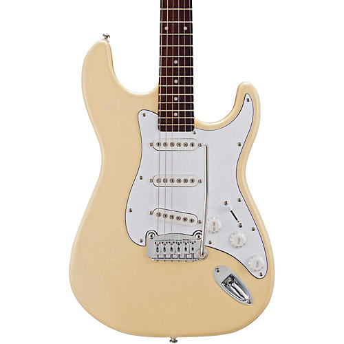 G&L Tribute S500 Electric Guitar Vintage White Rosewood Fretboard