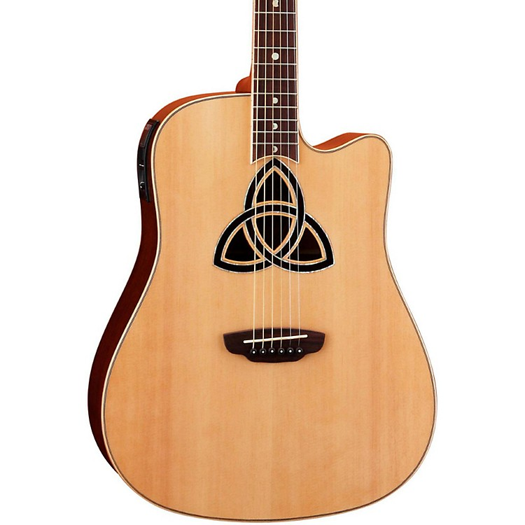 Luna GuitarsTrinity Dreadnought Acoustic-Electric GuitarNatural