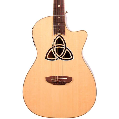 Luna Guitars Trinity Series Cutaway Parlor Acoustic-Electric Guitar Natural