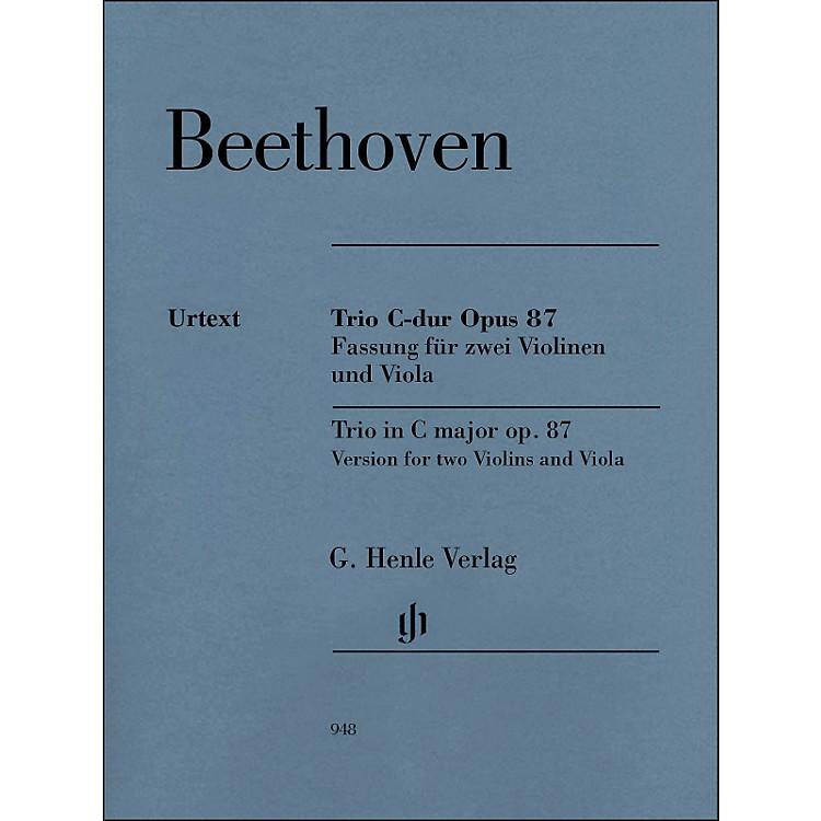 G. Henle VerlagTrio In C Major Op. 87 Version for 2 Violins And Viola By Beethoven / Voss