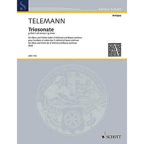 Schott Trio Sonata G Minor from Essercizii Musici Schott Series by Georg Philipp Telemann-thumbnail