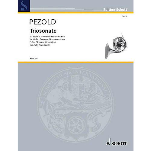 Schott Trio Sonata in F Major Schott Series by Christian Pezold Arranged by Hermann Jeurissen