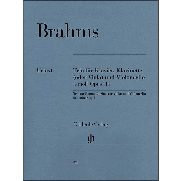 G. Henle VerlagTrio for Piano, Clarinet (Or Viola) And Violoncello In A Minor Op. 114 By Brahms