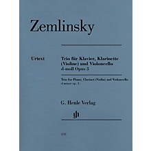 G. Henle Verlag Trio for Piano, Clarinet (Violin) and Violoncello in D-min Op 3 Henle Music by Zemlinsky Edited by Rahmer