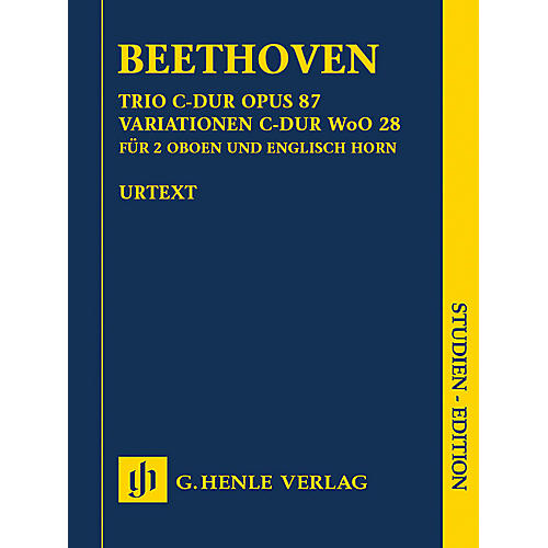 G. Henle Verlag Trio in C Major, Op. 87/Variations in C Major, WoO 28 Henle Study Scores by Beethoven Edited by Egon Voss