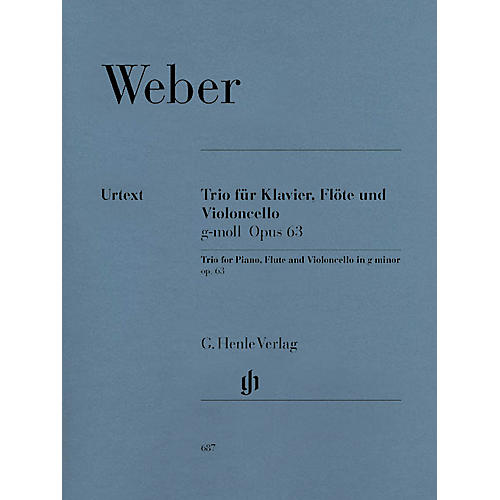 G. Henle Verlag Trio in G minor Op. 63 Henle Music Folios Series Softcover by Carl Maria von Weber-thumbnail