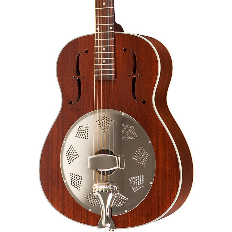 Rogue Triolian Biscuit Cone Resonator Guitar Natural