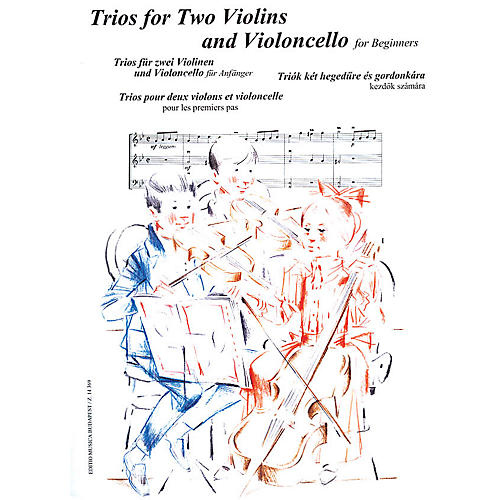 Editio Musica Budapest Trios for Two Violins and Violoncello for Beginners (Score and Parts) EMB Series Edited by András Soós-thumbnail