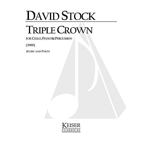 Lauren Keiser Music Publishing Triple Crown (for Cello, Piano and Percussion) LKM Music Series Composed by David Stock-thumbnail