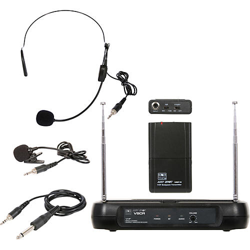 Galaxy Audio Triple Play Diversity VHF Wireless Belt Pack System Freq Code V54