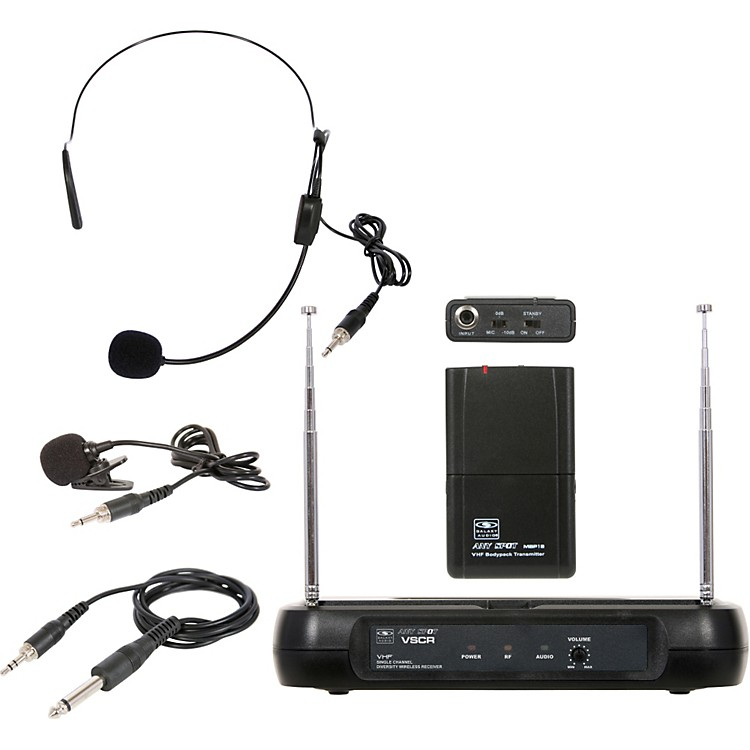 Galaxy Audio Triple Play Diversity VHF Wireless Belt Pack System Freq Code V60
