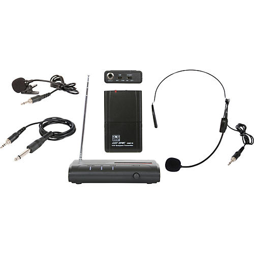 Galaxy Audio Triple Play VHF Wireless Belt Pack System Freq Code V54