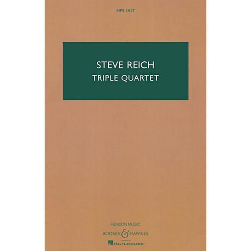 Boosey and Hawkes Triple Quartet Boosey & Hawkes Scores/Books Series Composed by Steve Reich-thumbnail