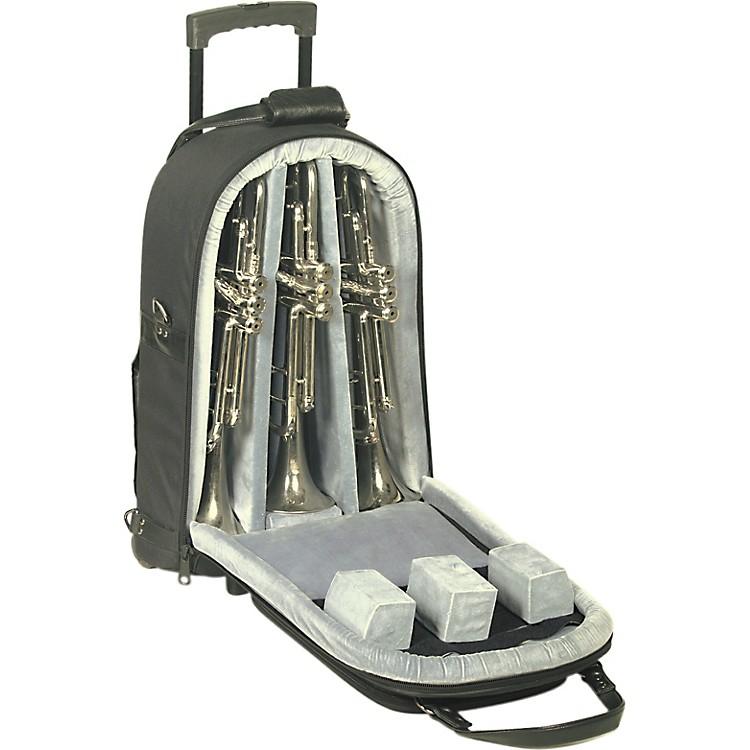 AlloraTriple Trumpet Wheelie Bag11-WBFSK Black GardSynthetic w/ Leather Trim