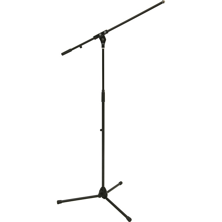 K&M Tripod Microphone Stand with Boom Arm Black